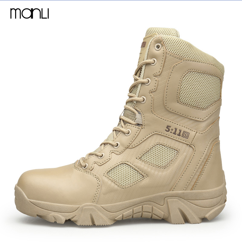 MANLI Men Hiking Shoes Mid-top Waterproof Outdoor Sneaker Men Leather Trekking Boots Trail Camping Climbing Hunting Sneakers цены онлайн
