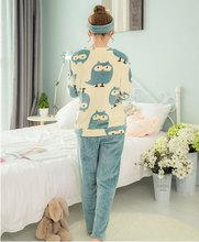 Girls Sleep & Lounge Home Long Sleeve O-neck Sweatshirts Long Pants Cartoon Autumn Winter Warm Fleece Soft Pajama Sets