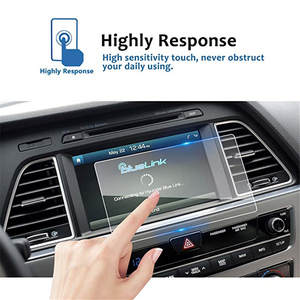Touch-Screen-Protector Sonata Kia Center Tempered-Glass Blue-Link for 8inch Navigation