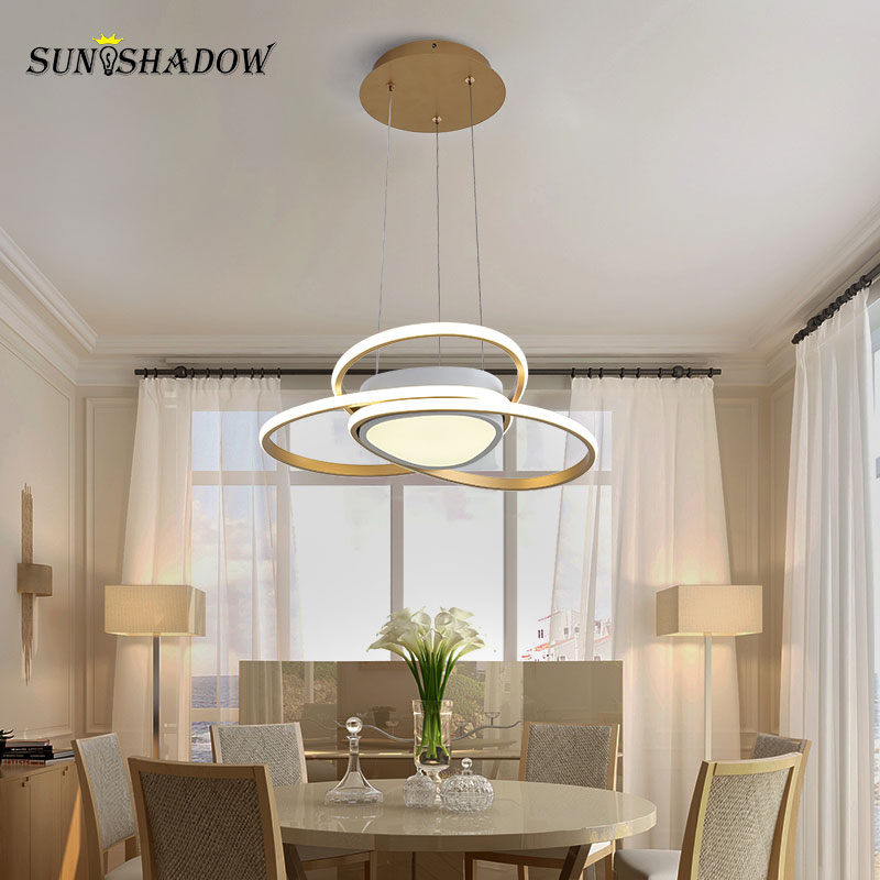 New ARRIVAL Modern Led Pendant Light Hanging Lamp For Dining room Kitchen Living room Bedroom Luminaires Gold Led Pendant LampsNew ARRIVAL Modern Led Pendant Light Hanging Lamp For Dining room Kitchen Living room Bedroom Luminaires Gold Led Pendant Lamps