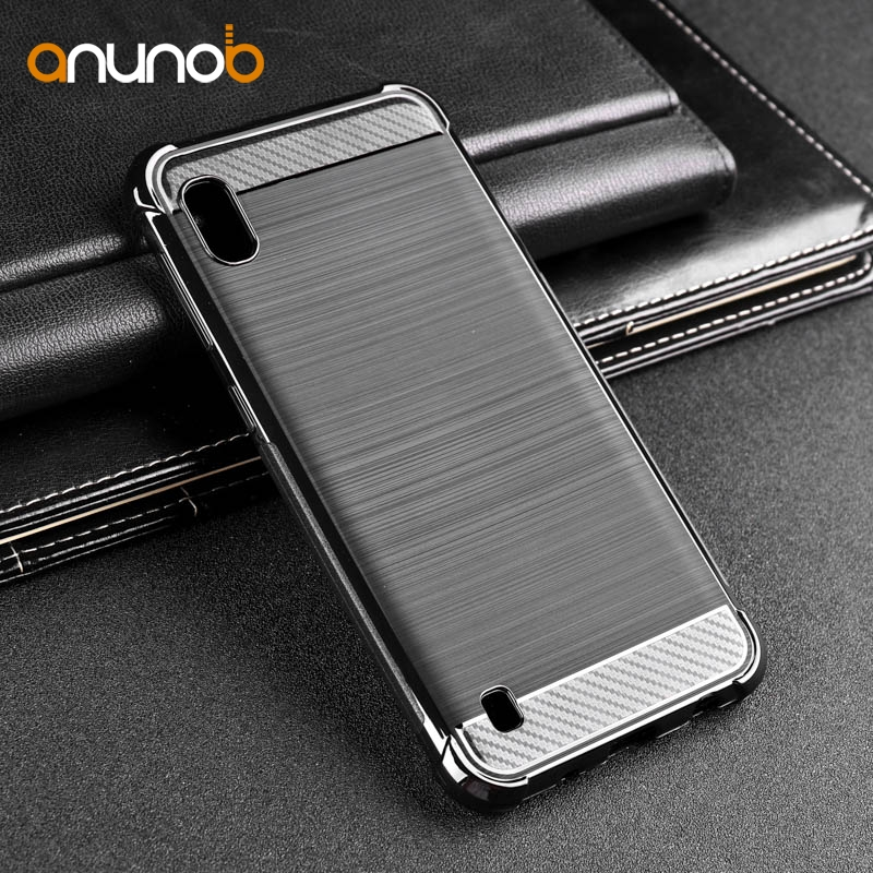 Carbon Fiber Silicone Case For Samsung M30S A50S A40 A70 A60 A10S A20S A30S Case Cover Galaxy A7 2018 S9 S10e Note 10 Plus Cases image