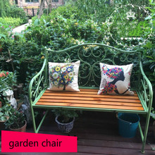 Louis Fashion sillas de jardín campo Vintage Ironwood doble espalda porche terraza exterior Parque ocio