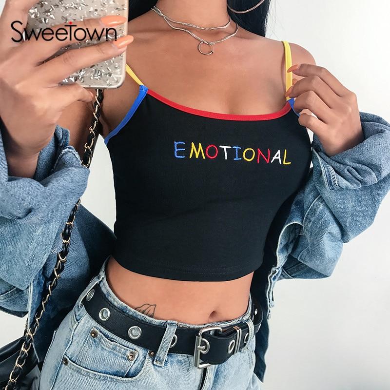 Sweet own noir imprimé Kawaii boléro Haut Femme été 2019 bord Patchwork couleur contrastée mignon recadrée Feminino hauts fête