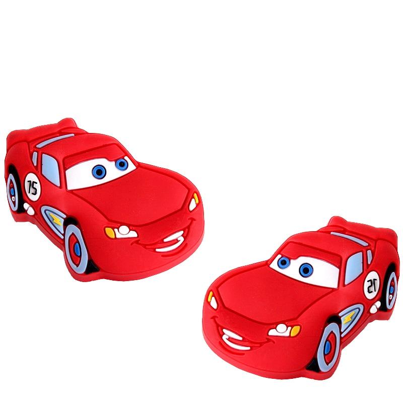 12pcs hot sale soft gum dresser drawer knobs pulls red car kids children cartoon cabinet cupboard