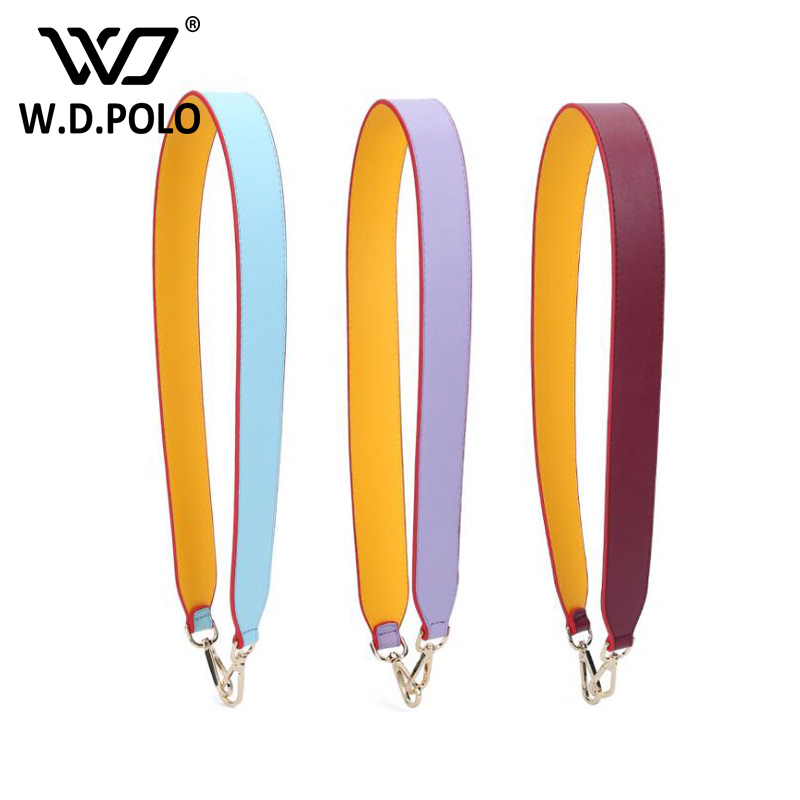 WDPOLO high chic brand design lady handbag strap easy matching color patchwork women shoulder bag belts hot selling M2519