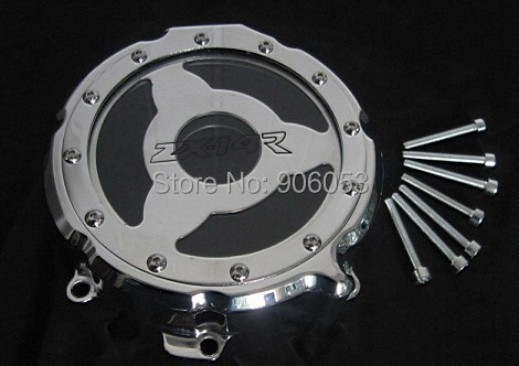 Free shipping motorcycle parts Engine Stator cover see through for Kawasaki ZX ZX14R ZZR1400 2006-2013 CHROME left aftermarket free shipping motorcycle parts billet engine stator cover for honda cbr600rr f5 2007 2012 chrome left