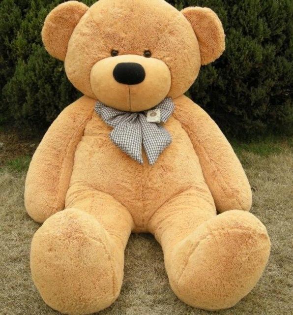 "GIANT 63"" TEDDY BEAR with grid tie HUGE SOFT STUFFED BIG PLUSH Toy"