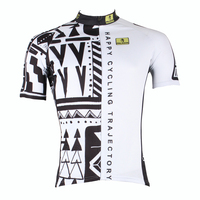 Men 1 2 Black Forest Short Sleeve Cycling Jersey Circular Trajectory Bike Shirt 3D Silicone Damping