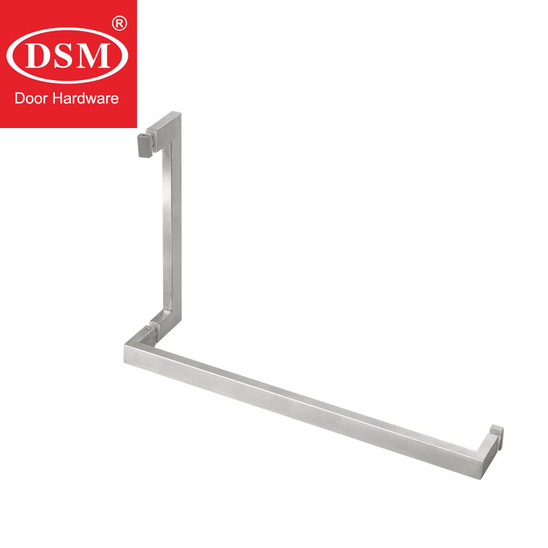 SUS304 Grade Stainless Steel Brushed Square Tube Shower Room Glass Door Handle PA 644 30*15*305*409mm