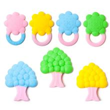 Baby Teether Supplies Pain Relief Full-silicone Teether Premium Quality Teething Toys Tree Sun Flower Pattern Gutta Pertscha