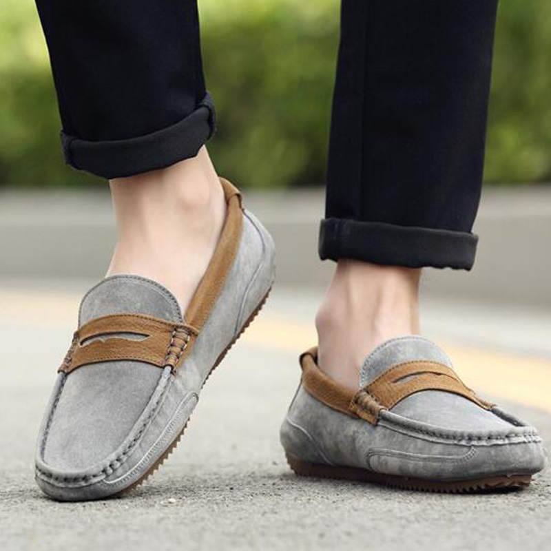 Tangnest Brand Men Suede Leather Loafers New 2017 British Style Men's Flats Man Comfortable Driving Shoes Man Moccasins XMR2522 5