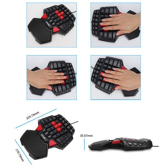 Delux Gamer Gaming T9 Keyboard and Mouse Combo Set 4