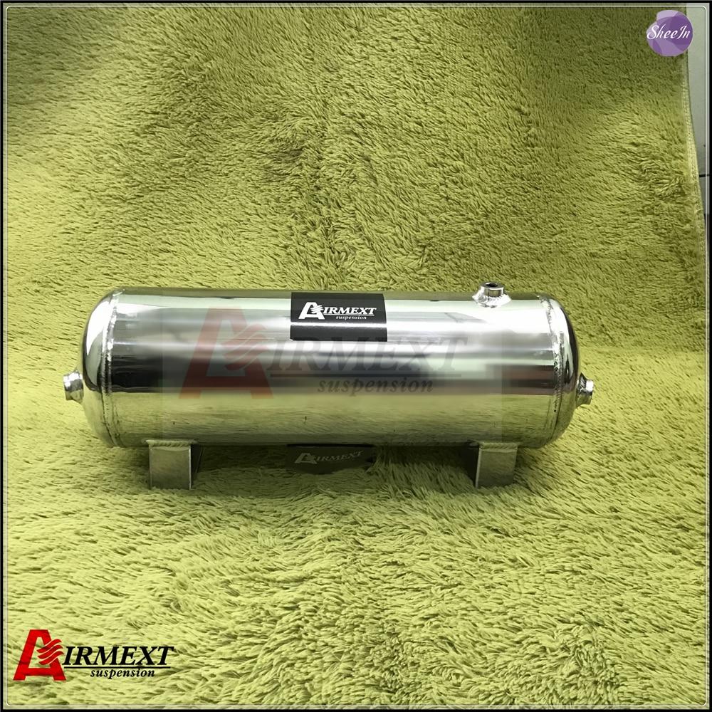 AIRMEXT/9.5L (2.5 Galão) liga de alumínio do tanque de alimentação de ar pneumático de ar do cilindro de ar do sistema de suspensão a ar tunning peças do veículo