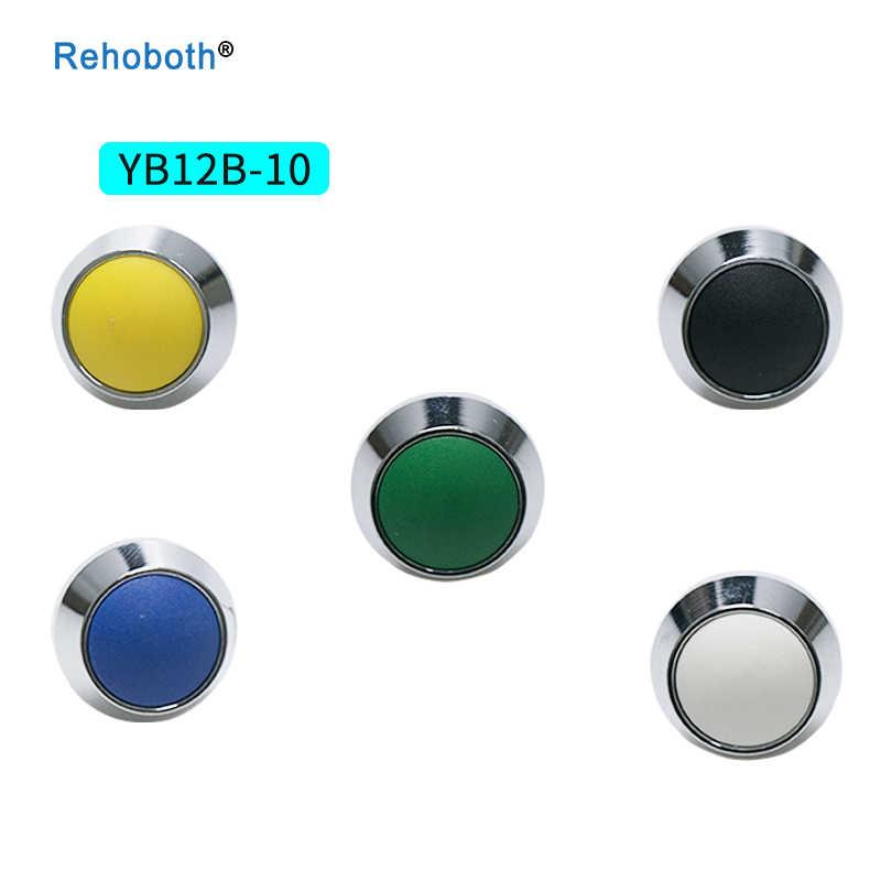 1Pcs 2Pin 12 mm mini self re-set waterproof switch ring lamp type momentary Push button Switch