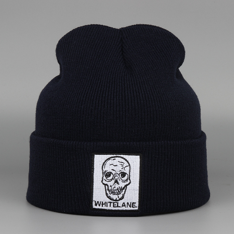 Winter Fashion Women and Men Knitting Beanies Skull Embroidery Hat Hip Hop Beanies