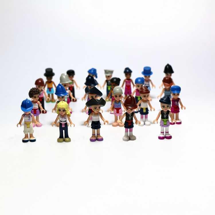 1PC 5PCS Mini Action Figure Building Figures For Playmobil Figure 4-5cm Randomly Figurine Blocks Girls Boys City People Kid Toys