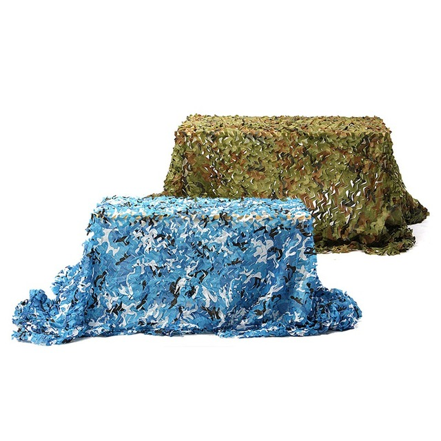Wholesale 5x2m Outdoor Camo Net Military Camouflage Netting Mesh Games Hide Camouflage Net Hunting Camping Net Garden Car Cover