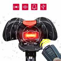 3 in 1 Bicycle Bike Security Lock Wireless Remote Control Alarm Alerter Bell Rear Light COB Taillight Bicycle Accessories