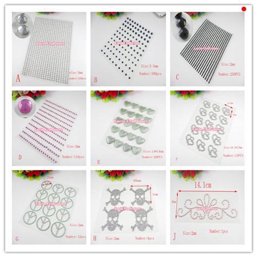 Lucia crafts SALE! Multi Design Options Rhinestone Sticker scrapbooking DIY decoration 1sheet/3sheets 022002077