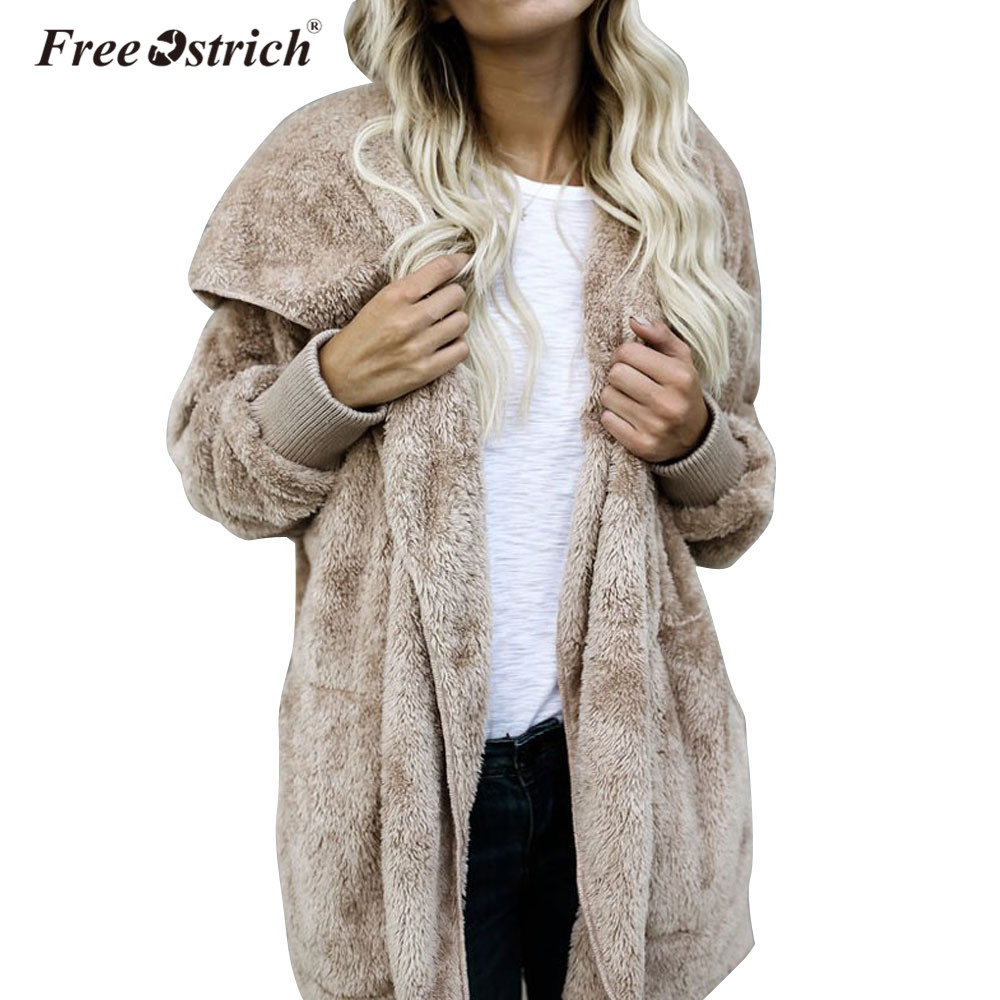 Free Ostrich Coat Women Winter Hoodie Co