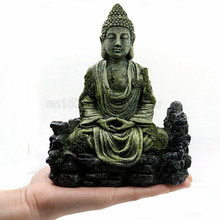 Ancient Buddha Statue Resin Aquarium Decoration for Fish Tank Ornament Decoration Landscap Decorative