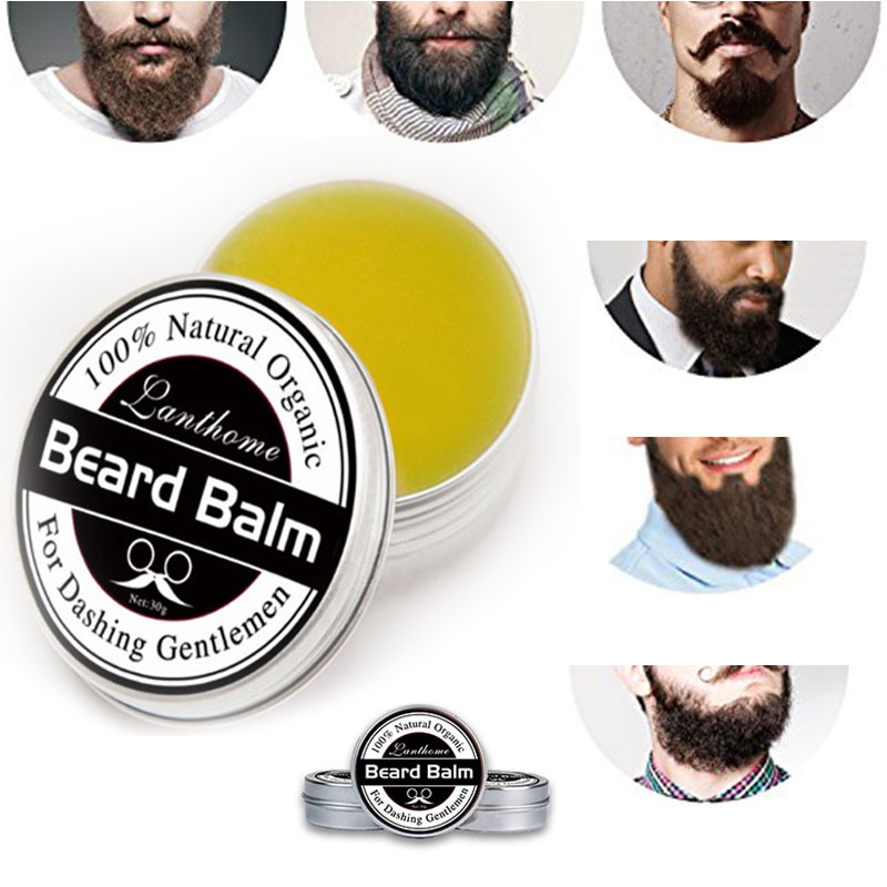 1 PCS Profession Men Beard Care Cream Moustache Beard Balm Natural Organic Treatment for Beard Growth Grooming Care Aid 30g H7JP 2