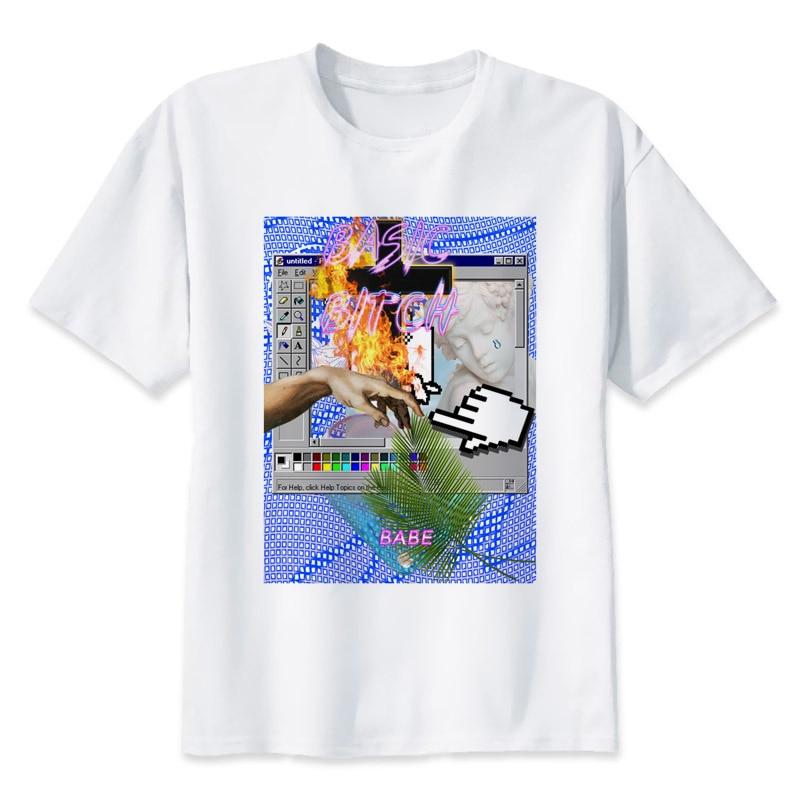 vaporwave t shirts men personalized custom tee 2017 summer short sleeve fitness t shirt mr1249. Black Bedroom Furniture Sets. Home Design Ideas