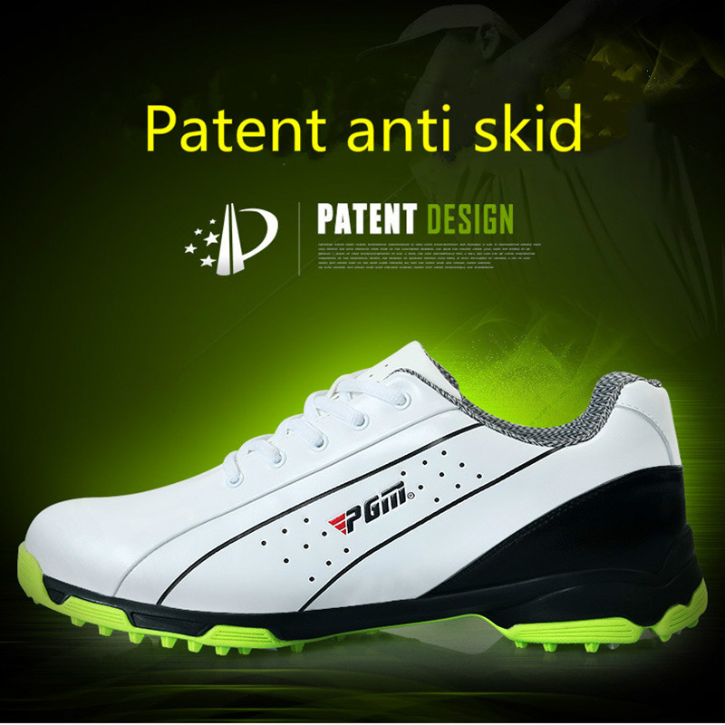 PGM Men Golf Shoes Breathable Athletic Sneaker Plus Size 39-46 Mesh Sport Shoes PU Waterproof Professional Golf Shoes For Men