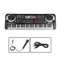 61 Schlüssel Multi-funktion Kinder Elektronischen Klaviertastatur Spielen mit Mikrofon Kleinkinder Kinder Pädagogisches Spielzeug 17*54*5,3 CM
