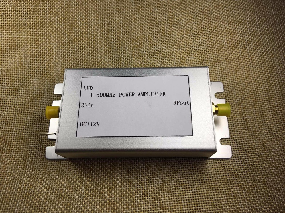 1-500MHz 1.6W HF FM VHF UHF  broadband RF power amplifier
