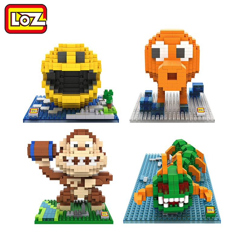 LOZ Pixels Figure Building Blocks Toy Pacman Pac Man Orangutan Octopus Chilopod Assemblage Figure Toy Christmas gift 14+ Anime