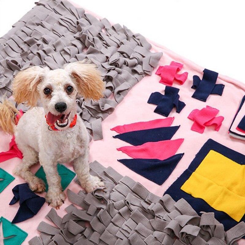 Tapis de reniflement pour chien lavable jouets Puzzle odeur trouver nourriture tapis de jeu tampons jouets pour chien couvertures de formation fournitures pour animaux de compagnie tapis de meulage pour chien