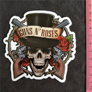 New Everybody likes ROCK Guns N' Roses Part 2 PVC notebook luggage fridge slide sticker Buy 3 Free 1(China)