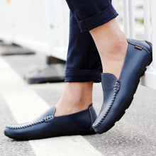 Leather Men Flat Shoes Brand Loafers Driving Fashion Casual Soft Shoe Hot Sell 2018 Autumn New  5
