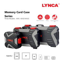 LYNCA مقاوم للماء غلاف بطاقة ذاكرة حامل تخزين سيم مايكرو TF SD بطاقة صندوق تخزين من الألومنيوم محفظة بحامل بطاقات حقيبة حمل حافظة