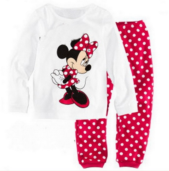 9bc3e16539 2-7Y Baby Pajamas fashion Pijamas Kids Girls Boys Sleepwear Long Sleeve  100% Cotton