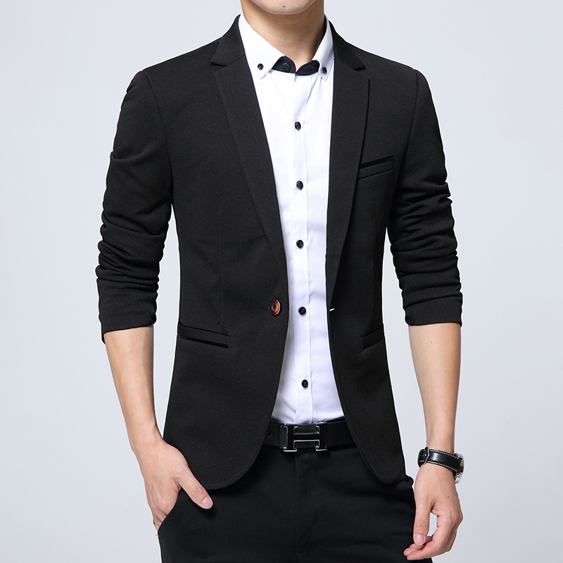 37c649a1e329 Custom made new style good quality man suit in china Top brand mens slim fit  black business suits hot sale Casual Mens Blazer-in Blazers from Men's  Clothing ...