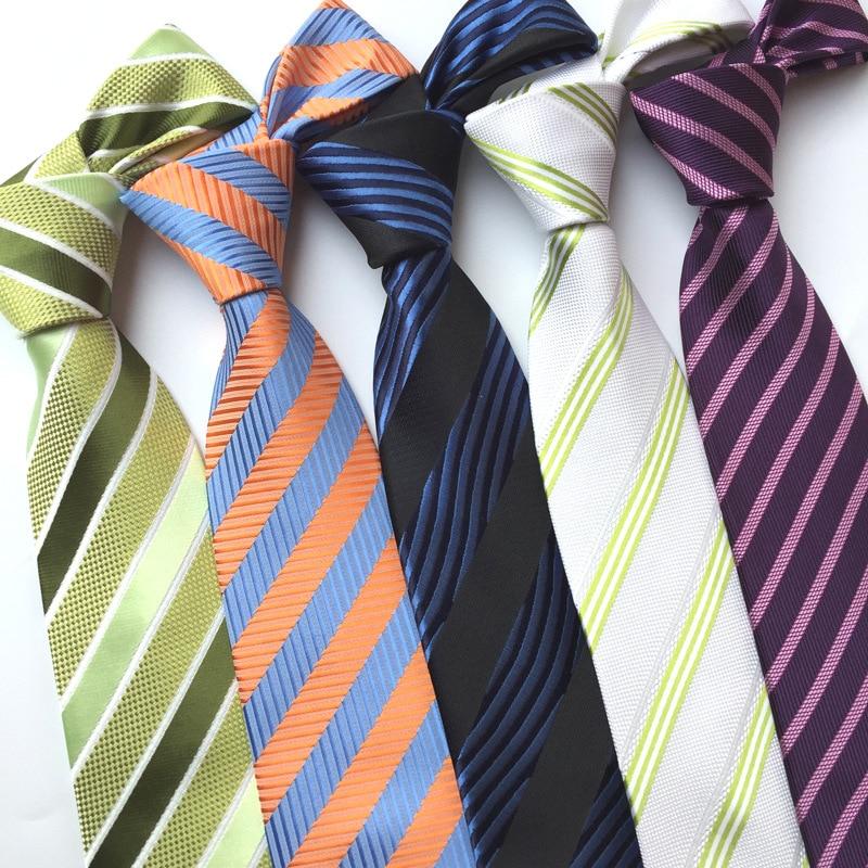 uusi muoti solmio miesten solmiot miehille vestido silkkiraita solmio - Vaatetustarvikkeet - Valokuva 2
