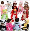 2016 Новый Милый Животных Panda One Piece С Длинным Рукавом Хлопок Новорожденного Ребенка Ползунки Ребенка Костюм Одежда Одежда