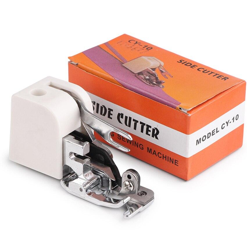 1 stücke Seite Cutter Overlock Nähmaschine Nähfuß Nähen Maschine Befestigung Für Alle Low Shank Sänger Janome BrotherCY-10