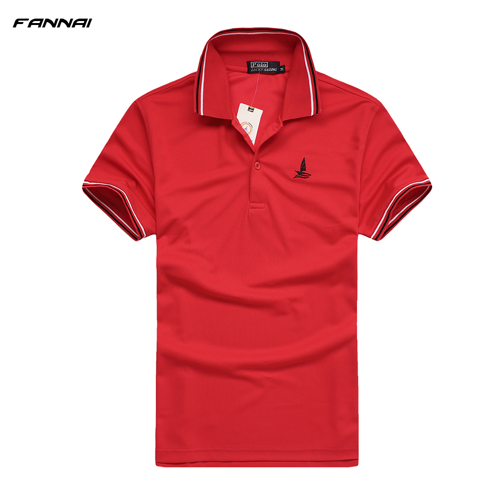 Brand POLO Shirt Mens T-Shirts Tops & Tees Short Sleeve sport Dress T Shirt Cotton Golf Shirt Short Sleeve Running Sports Shirt