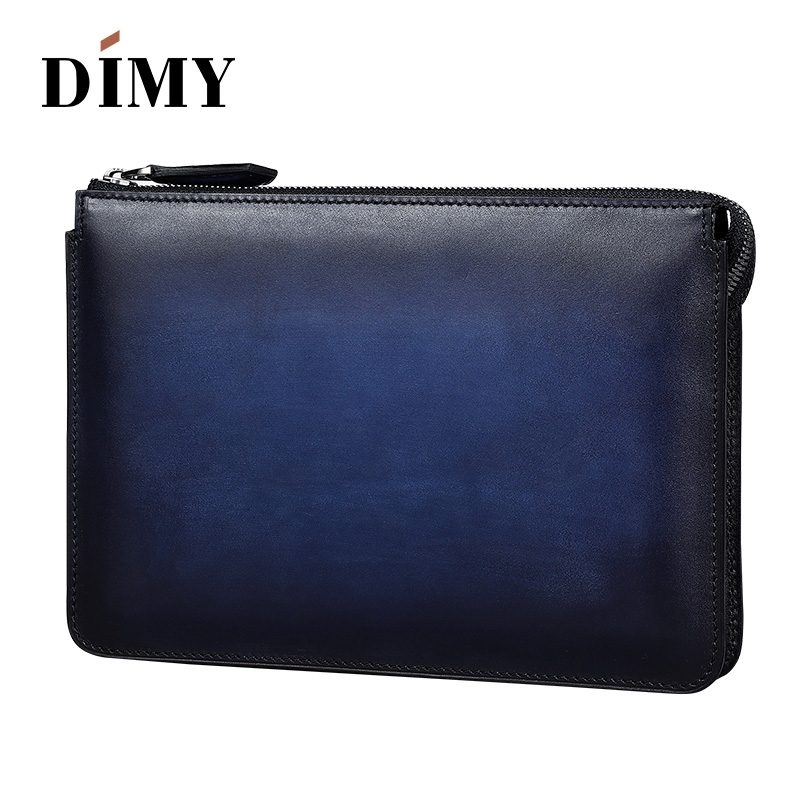 2018 new luxury Vinatge Men Leather band Clutch Bag Male three zipped Document Bag Travel Clutches Briefcase handbag promotion