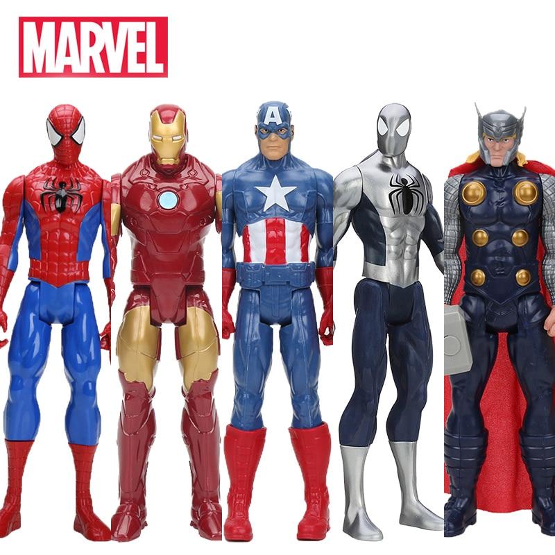 Juguetes Hasbro Marvel el vengador 30 cm superhéroe Thor Capitán América Wolverine Spider Man Iron Man PVC figura de acción muñecas de juguete