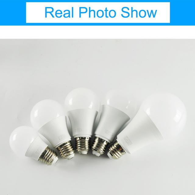 GreenEye LED Bulb Dimmable Lamps E27 E14 220V Light Bulb Smart IC Real Power 3W 5W 7W 9W 12W 15W 18W Lampada LED Bombilla