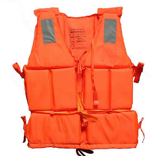 Orange Adult Foam Flotation Drifting Swimming Life Vest With Whistle Safety