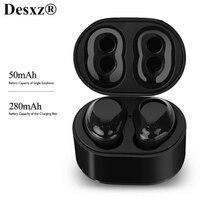 True Wireless TWS Bluetooth 5.0 Earphones Dual Earbuds Twins Stereo Sport Bluetooth 4.2 Headset Headphone with Mic Charging Box