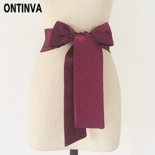871385d11 أزياء المرأة حزام خصر 2 متر طول 9 سنتيمتر عرض النبيذ الأحمر الأسود الأخضر  الداكن أزرق