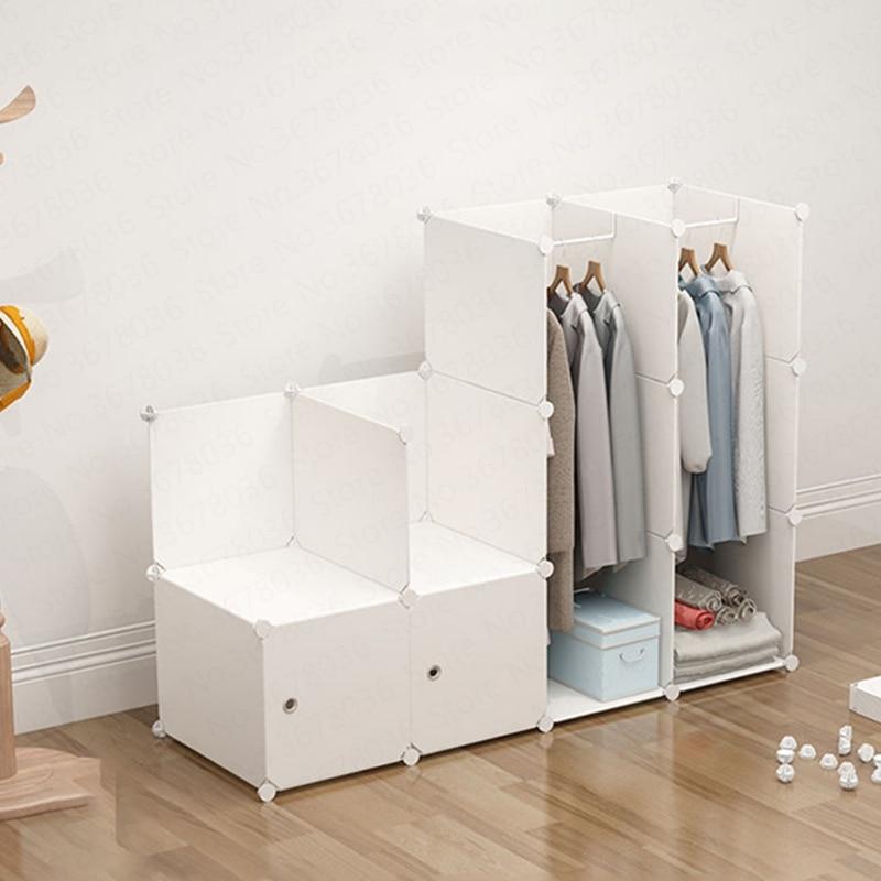 Wardrobe Simple Cloth Wardrobe Plastic Household Imitation Wood Cabinet Simple Modern Economic Folding Assembly Dormitory