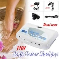 Dual user Ionic Detox Machine Foot Bath Spa Tool LCD w/ MP3 Music Cleanse Salon