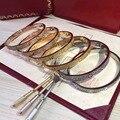 Bracelet Bangles 316L Titanium steel full with cz diamond Bracelets Screwdriver Pulseiras cater love Screw Bangle women men